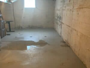water leaking into basement