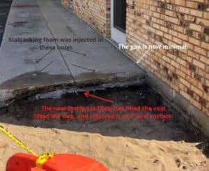 sidewalk after repair