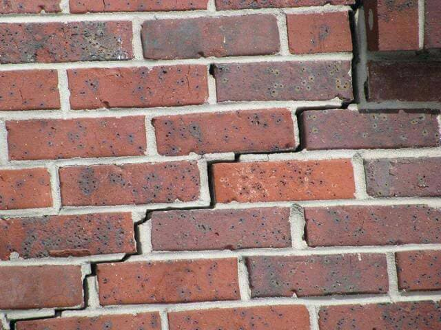 cracked brick exterior