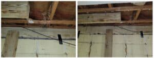 cracked wall before & after repair