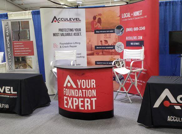 Acculevel's home show booth