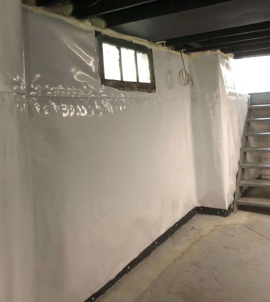 basement stairs w encap