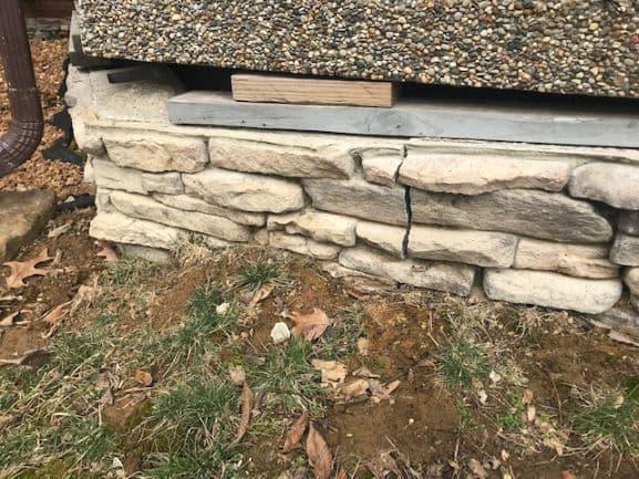 sagging porch needs repair
