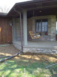 porch with repaired foundation