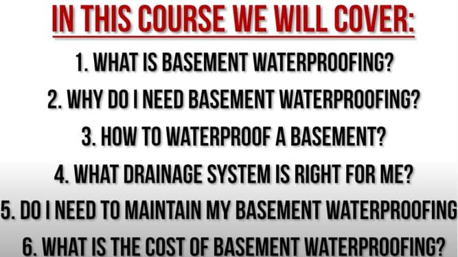 4. Take our Online Basement Waterproofing Course