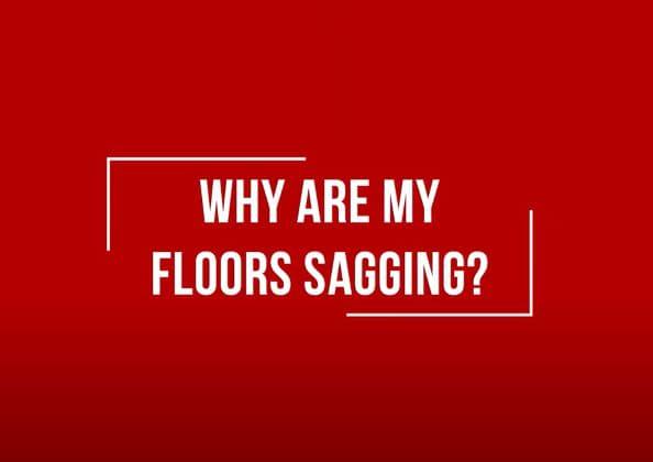 title slide for sagging floor repair