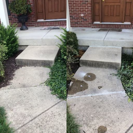 Concrete Leveling - Porch & Sidewalk - Before & After