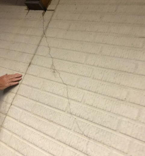 crack in basement wall