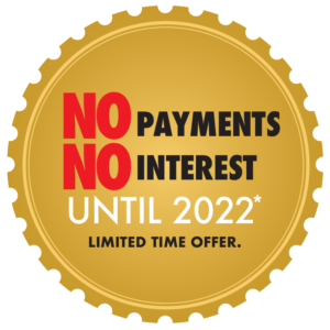 No interest No payments until 2022
