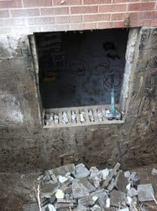 rough opening in concrete for window