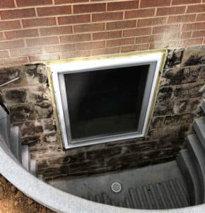 egress window is installed