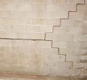 Cracked and bowed wall