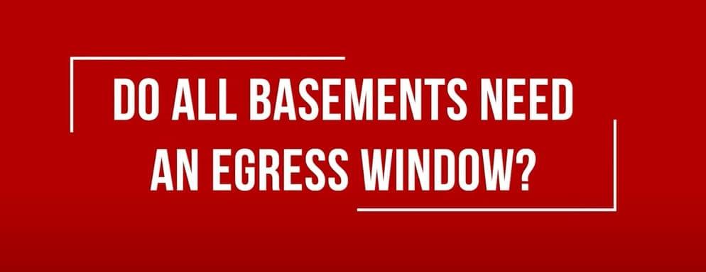 Do All Basements Need An Egress Window - Video Thumbnail