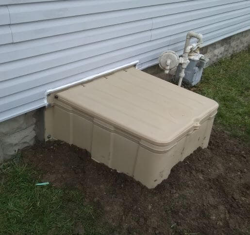 Turtl crawl space access after install