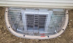 This photo of an egress window was taken by an Acculevel crew member during installation.