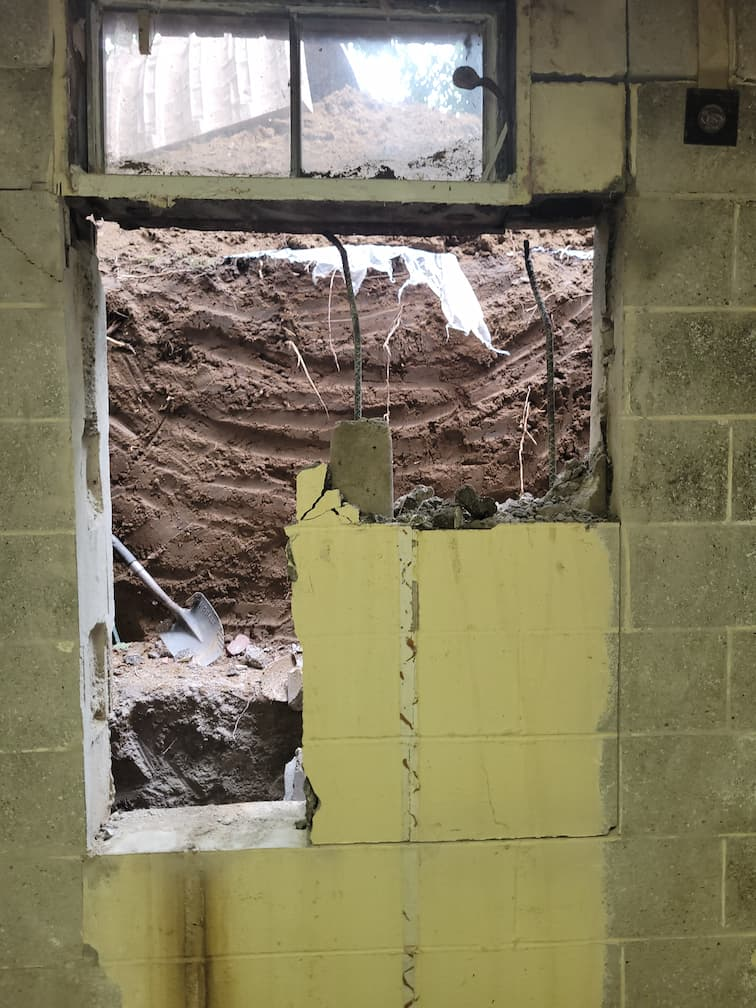cutting hole in wall for window