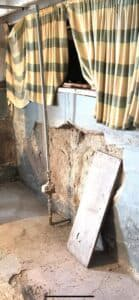 decaying foundation wall