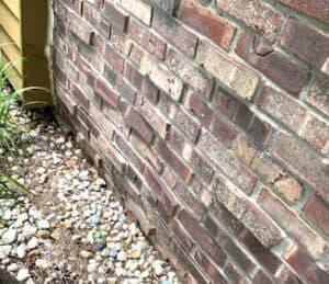brick wall curving inward