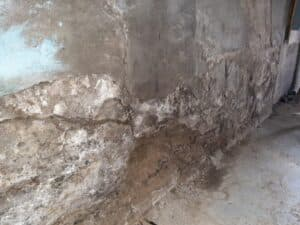 decaying concrete foundation